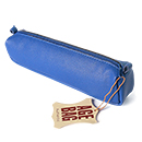 Clairefontaine Basics Leather Pencil Case - Square, Blue