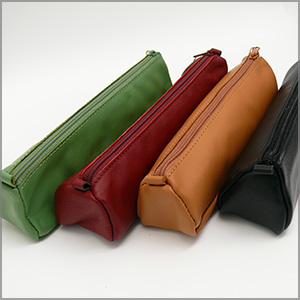 Clairefontaine Basics Leather Pencil Cases