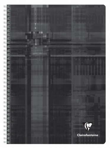 Clairefontaine Classic Wirebound Notebook - Black, A4 Large, Ruled