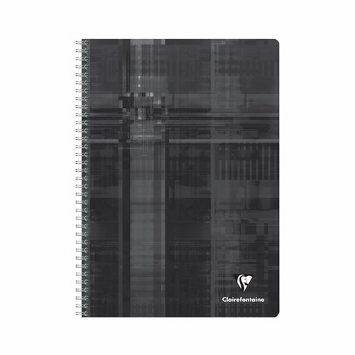 Clairefontaine Classic Wirebound Notebook - Black, A5 Medium, Ruled