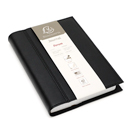 Exacompta Chelsea Leather Refillable Forum Journal - Black, Graph