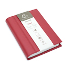 Exacompta Chelsea Leather Refillable Forum Journal - Red, Undated 365/Lined