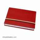 Exacompta Refillable Compact Desk Journal - Soho Cover, Red