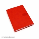 Exacompta Refillable Compact Desk Journal - Texas Cover, Red