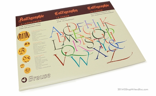 Introduction to Calligraphy Lettering Cards by Brause - Click to enlarge