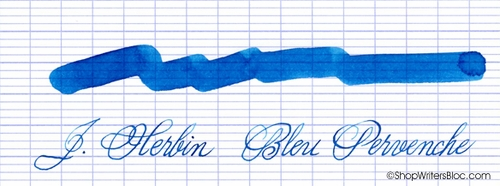 J. Herbin La Perle des Encres Fountain Pen Ink - Bleu Pervenche, 10ml bottle