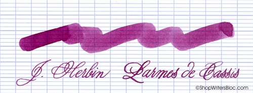 J. Herbin La Perle des Encres Fountain Pen Ink - Larme de Cassis, 10ml bottle