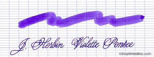 J. Herbin La Perle des Encres Fountain Pen Ink - Violette Pensee, 10ml bottle
