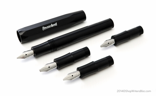 Kaweco Calligraphy Fountain Pen Set with 4 Nib Sizes - Black - Click to enlarge
