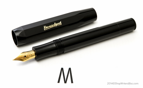 Kaweco CLASSIC Sport Fountain Pen - Black, Medium Nib - Click to enlarge