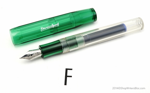 Kaweco ICE Sport Fountain Pen - Green, Fine Nib - Click to enlarge