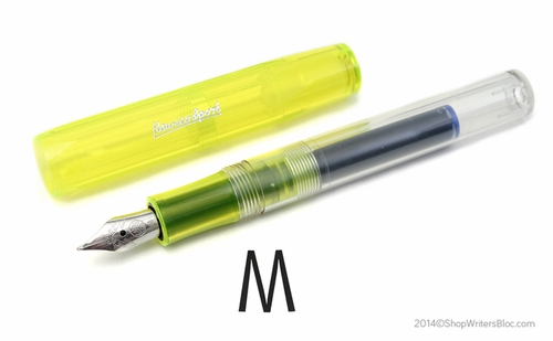 Kaweco ICE Sport Fountain Pen - Yellow, Medium Nib - Click to enlarge