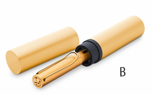 LAMY LX Fountain Pen - Gold, Broad Nib - Click to enlarge