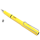 LAMY Safari Fountain Pen - Yellow, Broad Nib