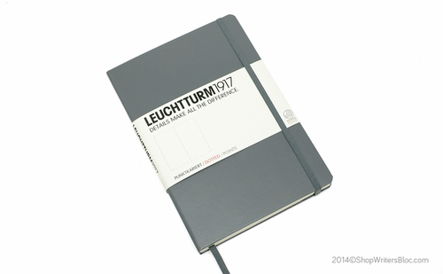 LEUCHTTURM 1917 Dot Grid Notebook - Medium, Hard Cover, Gray - Click to enlarge