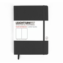 LEUCHTTURM 1917 Plain Notebook - Medium, Hard Cover, Black