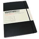 Leuchtturm 1917 Ruled Academy Pad - A4 Hard Cover, Black