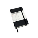 LEUCHTTURM 1917 Ruled Notebook - Pocket Size, Hard Cover, Black