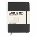 LEUCHTTURM1917 Weekly Planner & Notebook - Medium, Black, 2017