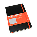LEUCHTTURM1917 Whitelines Link Notebook - Medium, Black, Lined