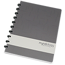 Myndology Luna Letter Disc Bound Notebook - College Ruled, Basalt