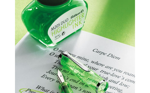 Pelikan M205 Duo Highlighter Ink - Shiny Green