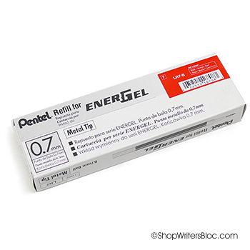 Pentel EnerGel Pen Refills LR7 Metal Tip 0.7mm - Box of 12 Red