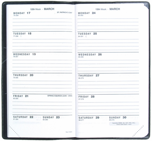 Quo Vadis Biweek #47 Pocket Planner 2017 - Club, Blue