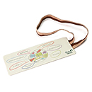 Quo Vadis Elastic Bookmark - Brown/Tan