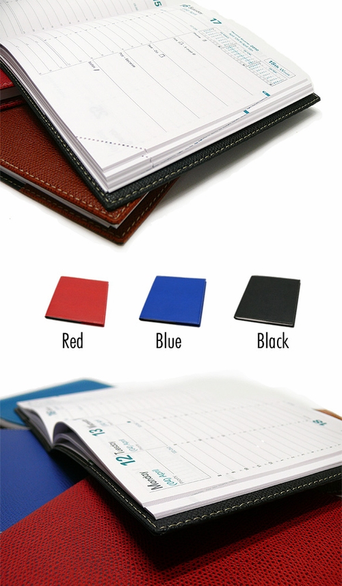 Quo Vadis Executive Desk Weekly Planner 2017 - Club Cover, Red