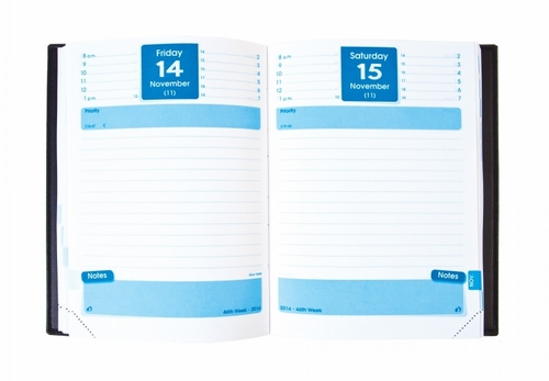 Quo Vadis Notor #21 Desk Daily Planner 2017 Texas, Blue
