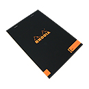 R by Rhodia Bloc No. 16<br>6 x 8 1/4 Black, Lined