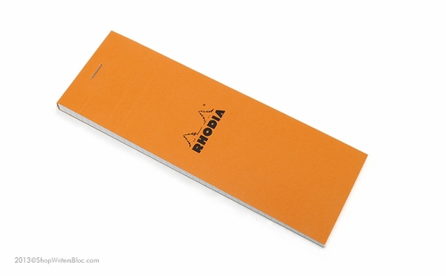 Rhodia Bloc No. 8<br>3 x 8 3/4 - Orange, Graph - Click to enlarge