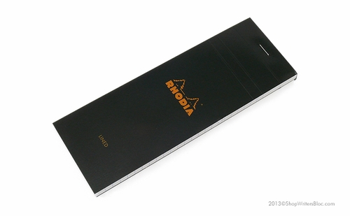 Rhodia Bloc No. 8 <br>3 x 8 3/4 - Black, Lined - Click to enlarge