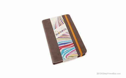 Rhodiarama Webnotebook - A6 Small, Chocolate, Lined - Click to enlarge