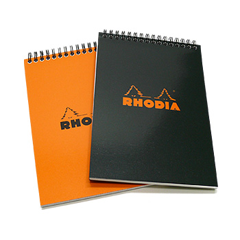 Rhodia Wirebound Pad - Medium, Black, Dot Grid