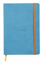 Rhodiarama Soft Cover Notebook - Medium, Turquoise, Lined