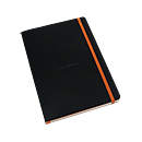 Rhodiarama Soft Cover Notebook - Medium, Black, Dot Grid
