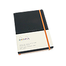 Rhodiarama Soft Cover Notebook - Medium, Black, Lined