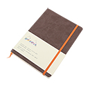 Rhodiarama Soft Cover Notebook - Medium, Chocolate, Dot Grid