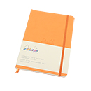 Rhodiarama Soft Cover Notebook - Medium, Orange, Dot Grid