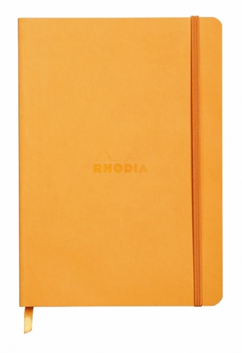 Rhodiarama Soft Cover Notebook - Medium, Orange, Lined - Click to enlarge