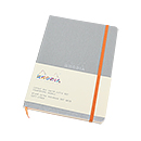 Rhodiarama Soft Cover Notebook - Medium, Silver, Dot Grid