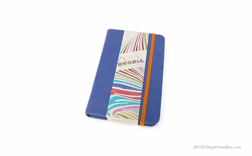 Rhodiarama Webnotebook - A6 Small, Sapphire, Lined - Click to enlarge