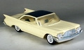 1960 Chrysler New Yorker 2 Door Hardtop Dealer Promo, Light Yellow with Dark Silver-Blue Top and Seat Inserts