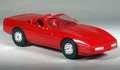 1987 Corvette Convertible Promo, No Year on Plate, Red
