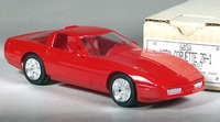 1990 Corvette ZR-1 Coupe Promo, No Year on Plate, Bright Red, with Box