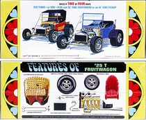AMT 1925 Ford Fruitwagon, Roadster or Pickup, Stock and Street Rod, Double Kit – TWO COMPLETE CARS!