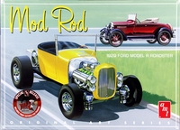 "AMT 1929 Ford Model A Roadster ""Mod Rod"" Double Kit, Build Two Complete Cars (White)"