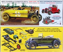 "AMT 1929 Ford Model A Roadster ""Mod Rod"" Double Kit, Build Two Complete Cars (Yellow)"